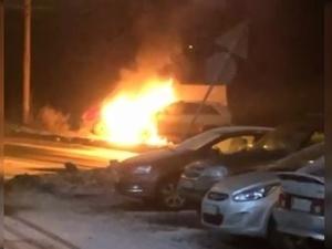 Велосипедиста разыскивают за поджог автомобиля в Автозаводском районе