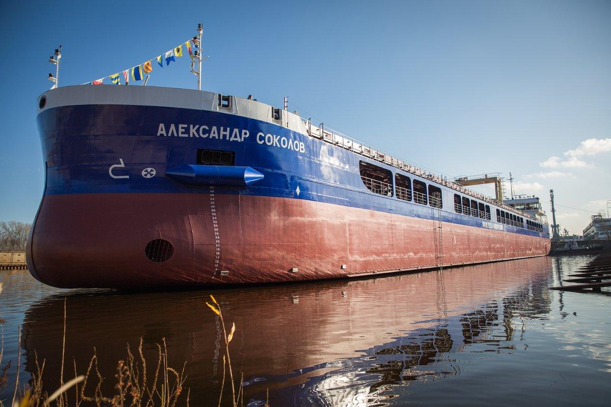 140-метровый сухогруз «Александр Соколов» спустили на воду - фото 3
