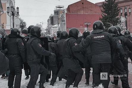 18-летнего участника митинга задержали за насилие над полицейским в Нижнем Новгороде