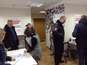 В нижегородском штабе оппозиционера Алексея Навального проходят обыски
