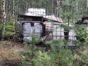 Свалку подозрительных отходов обнаружили жители Дзержинска на Северном шоссе