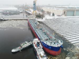 Четвертый танкер-химовоз спущен на воду в Нижнем Новгороде