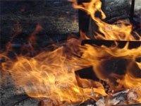 Гараж с двумя автомобилями внутри сгорел в Сормове