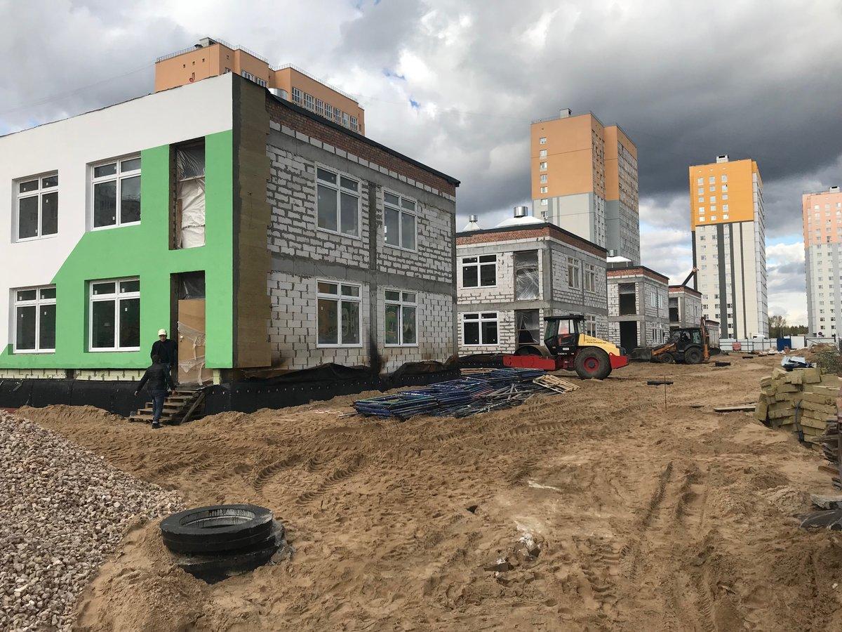 Детский сад в микрорайоне «Седьмое небо» построен наполовину - фото 1