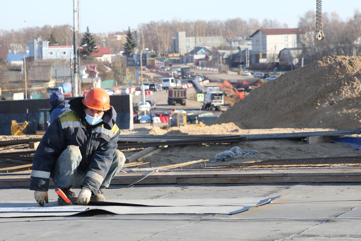 Строительство транспортной развязки в Ольгино готово на 20% - фото 1