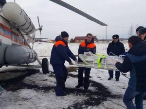 Вертолет МЧС доставил в Нижний Новгород тяжелобольного жителя Шаранги