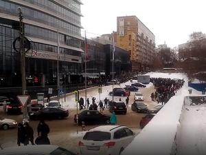 Центр международной торговли эвакуировали в Нижнем Новгороде